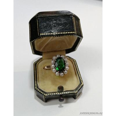 Кольцо Золото 585 пробы, жемчуг.