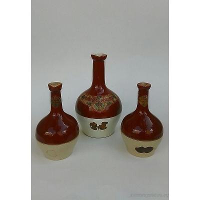 Бутылка Кувшин ликерная Bardinet.Начало XX века. Комплект.